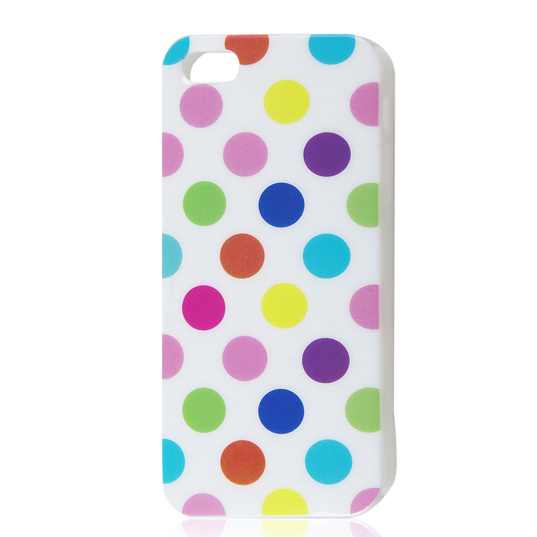 Unique Bargains Assorted Color Polka Dot White Soft Cover Case for Apple iPhone 5 5G 5th