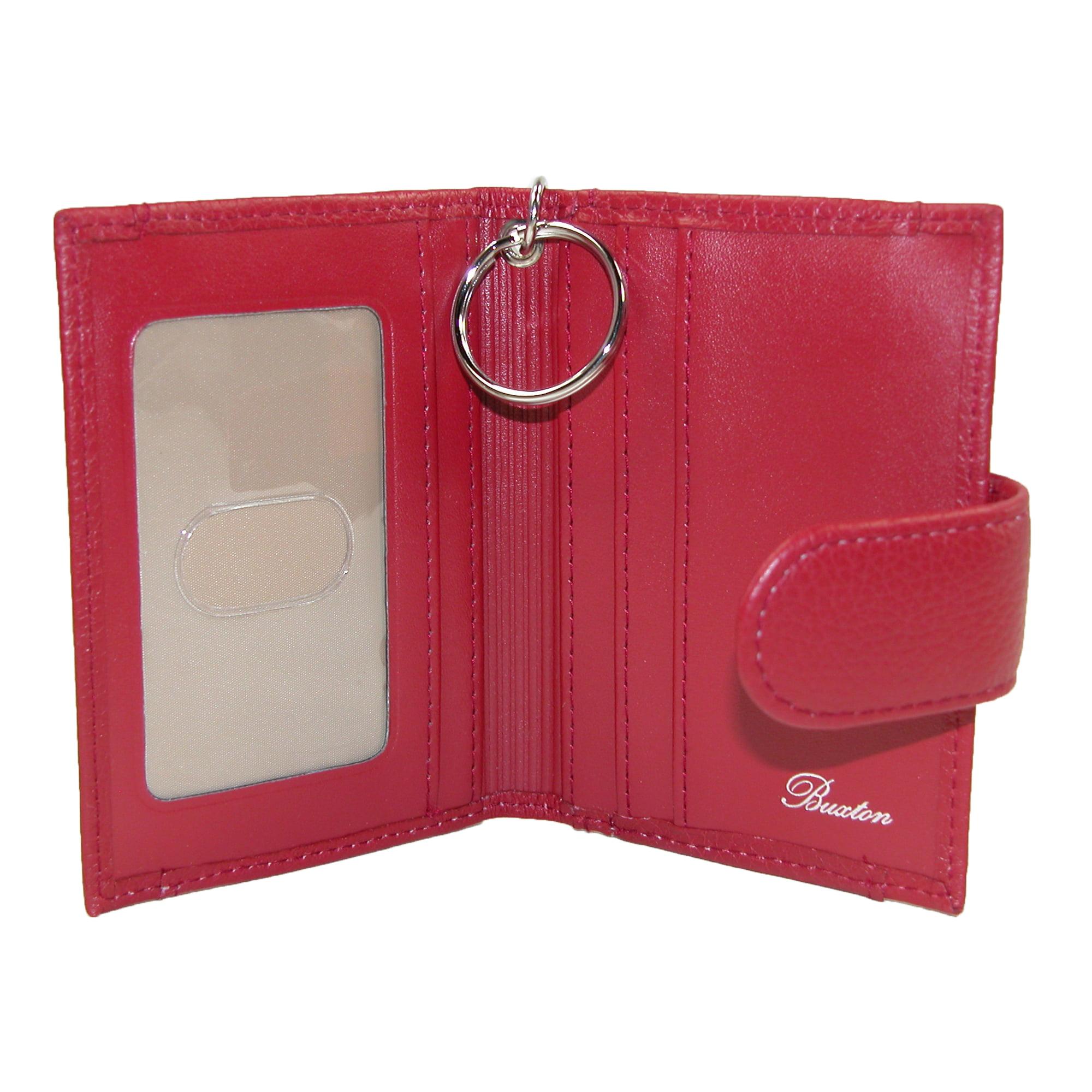 Buxton Women\'s Leather Key Chain ID Card Case Wallet - Walmart.com