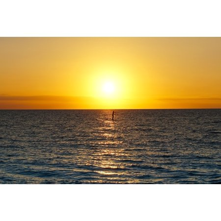 LAMINATED POSTER Paddleboard Maui Sunset Poster Print 24 x (Best Place To Paddleboard In Maui)