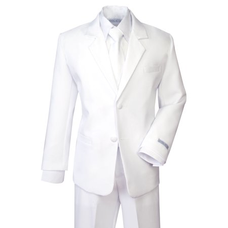 Spring Notion Boys' Formal White Dress Suit Set - Dress Up Clothes For Boy