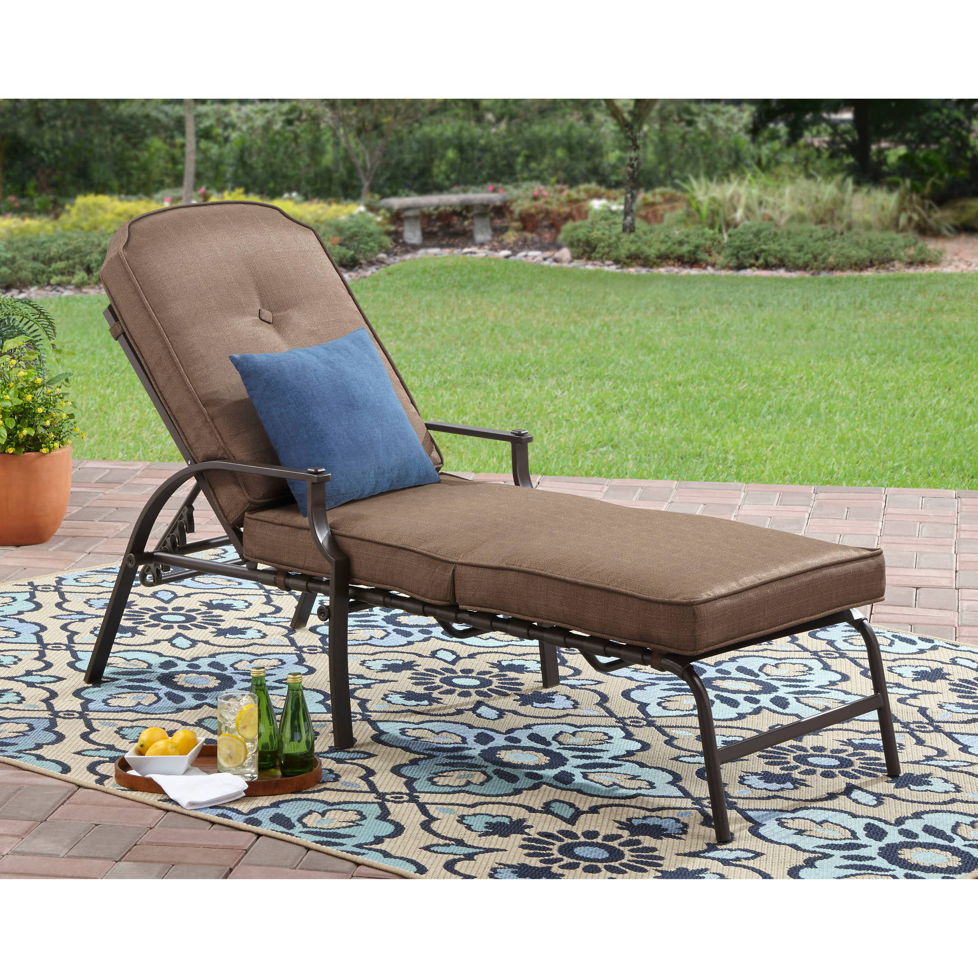 Baner Garden Adjustable Chaise Pool Lounge Chair   Walmart.com