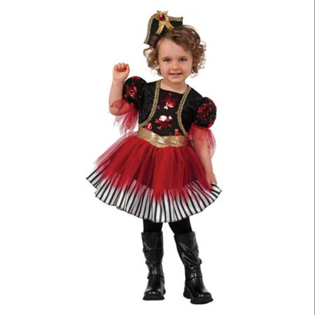 Treasure Island Pirate Toddler Girls Ship Captain Halloween Costume - Treasure Island Pirate Costume