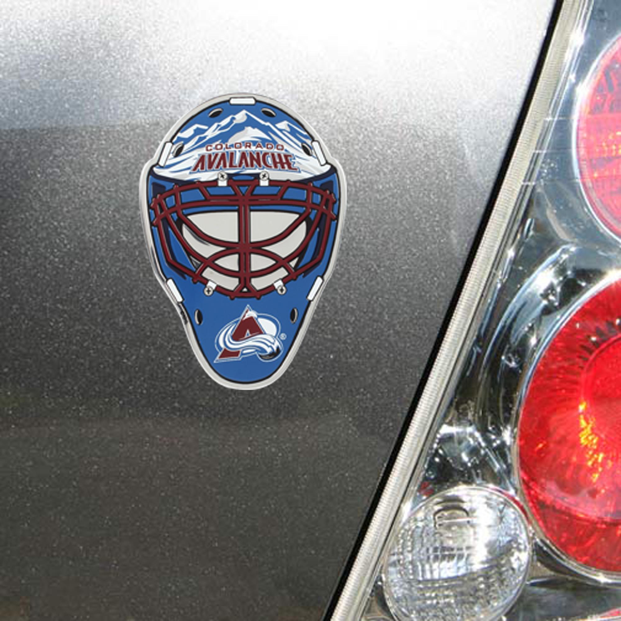 Colorado Avalanche Goalie Mask Auto Emblem - No Size
