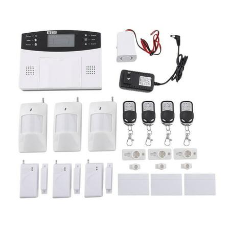 New Gsm Home Security Wireless Alarm System Detector Sensor Call Lcd Screen Intelligent Auto Door Alarm System