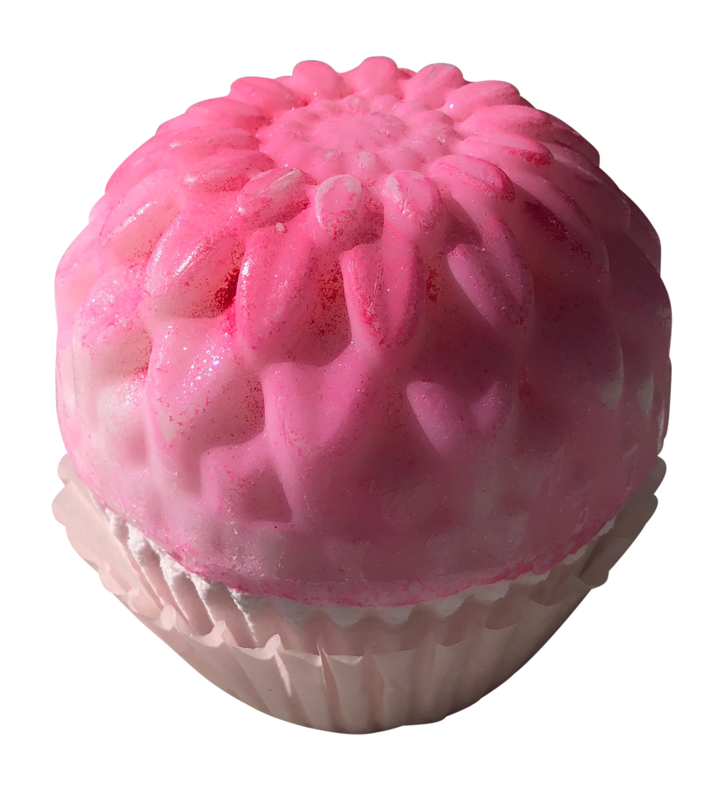Birthday Cupcake Bath Bomb and Soap Bar with Surprise Ring Inside, Size 6