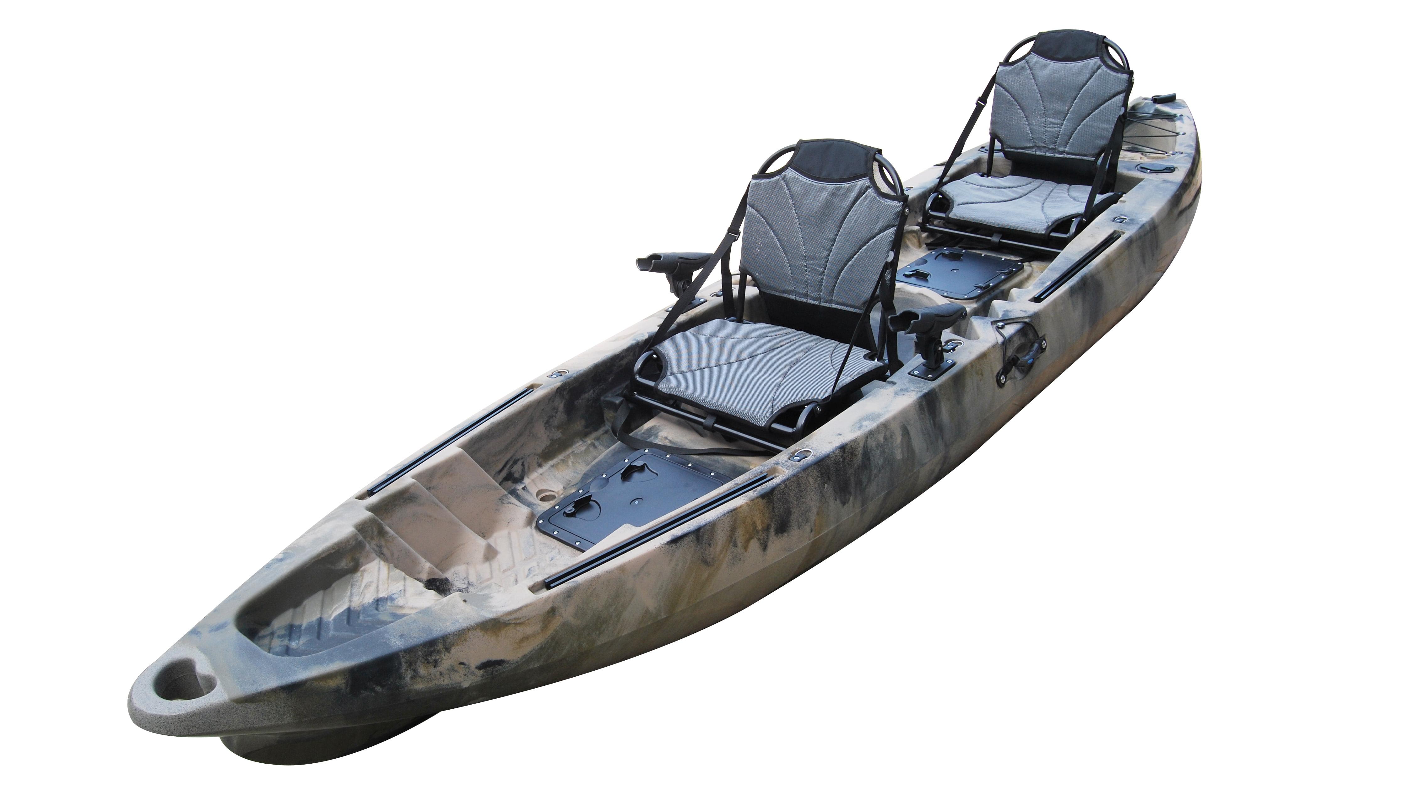 Coastal Tire And Auto >> BKC UH-TK122 Coastal Cruiser 12.9-Foot Tandem 2-3 Person Sit On Top Fishing Kayak- Up-Right ...