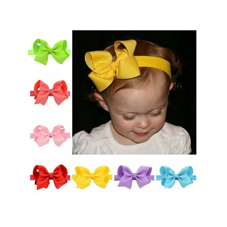 Baby Girls Headband, Coxeer 20-Pack Ribbon Hair Bows Clips Flower Headbands Hair Accessories For Teens Girls Kids