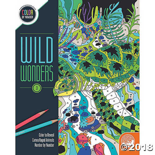 Wild Wonders Color By Number: Book 3 - Coloring Books - 1 Piece - Walmart.com  - Walmart.com