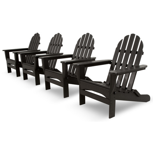 Ivy Terrace Classics 4-Piece Folding Adirondack Conversation Set