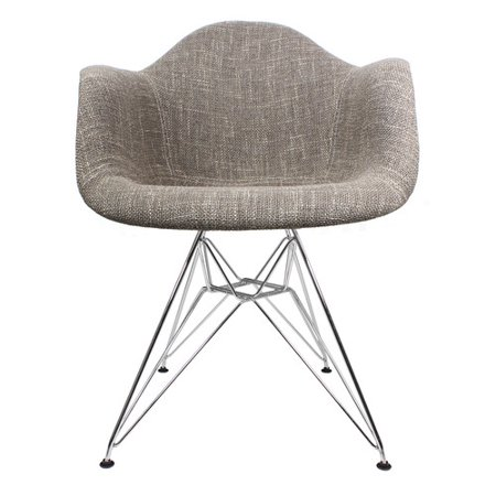 Fine Emodern Decor Woven Fabric Upholstered Armchair Walmart Com Cjindustries Chair Design For Home Cjindustriesco