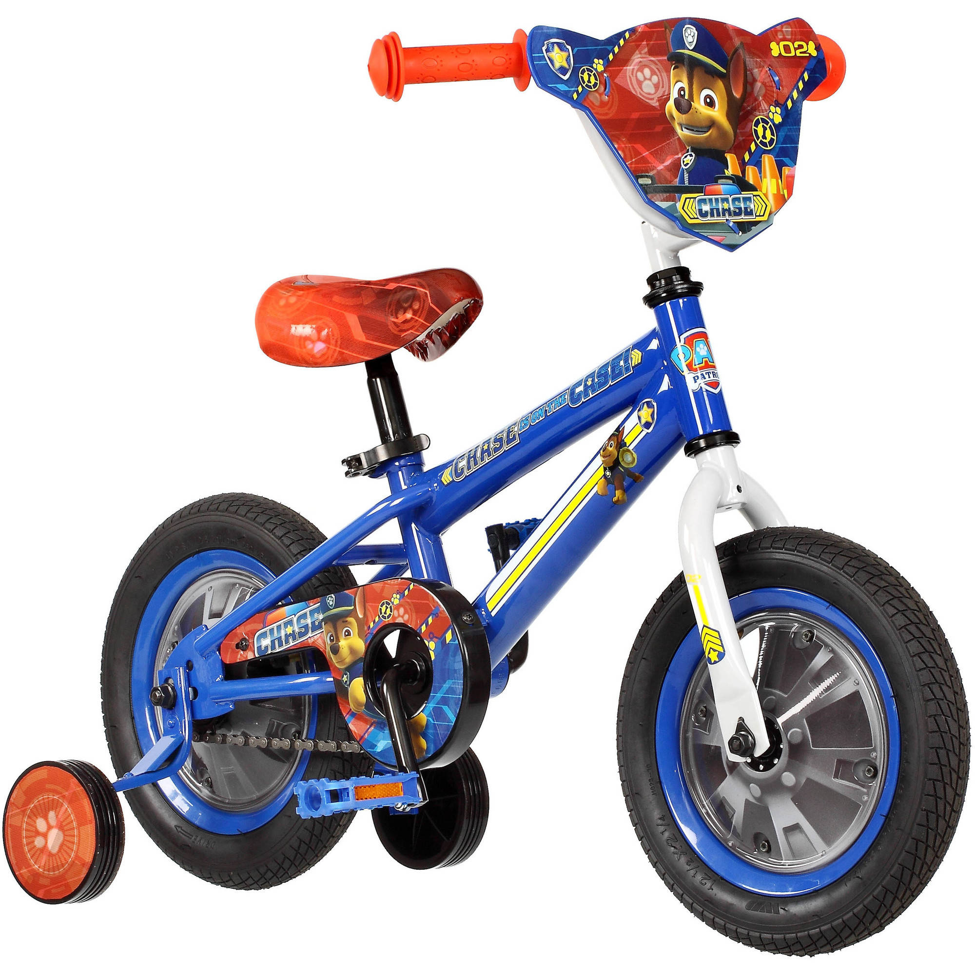 "12"" Paw Patrol Bike Featuring Chase by Pacific Cycle"