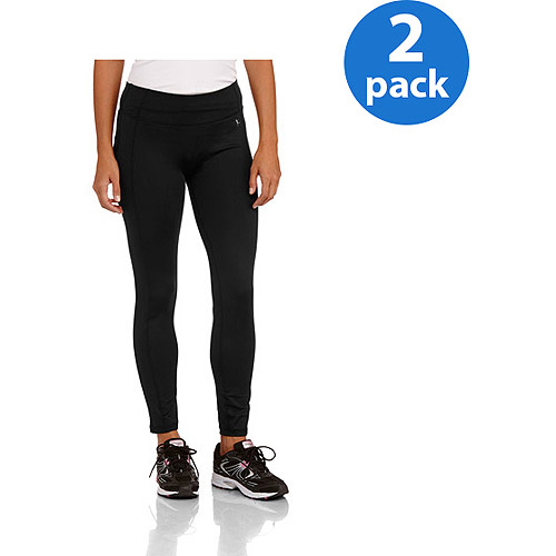 Danskin Now Women's Esssential Performance Active Leggings 2 Pack Value Bundle