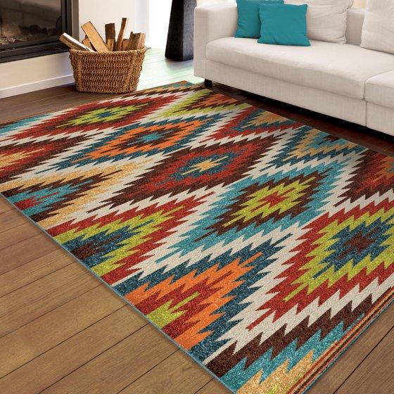 Orian Rugs Bright Colors Aztec Prescott Multi Area Rug
