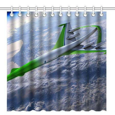Pop Nasa Lockheed Martin Supersonic Waterproof Polyester Fabric Shower Curtain Bathroom Bath Curtains 66X72 Inches