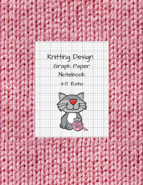 Knitting Design: Graph Paper Notebook, Blank Knitting ...