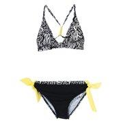 Big Chill Little Girls' Zebra Print Reversable Two Piece Bikini Swimsuit Set