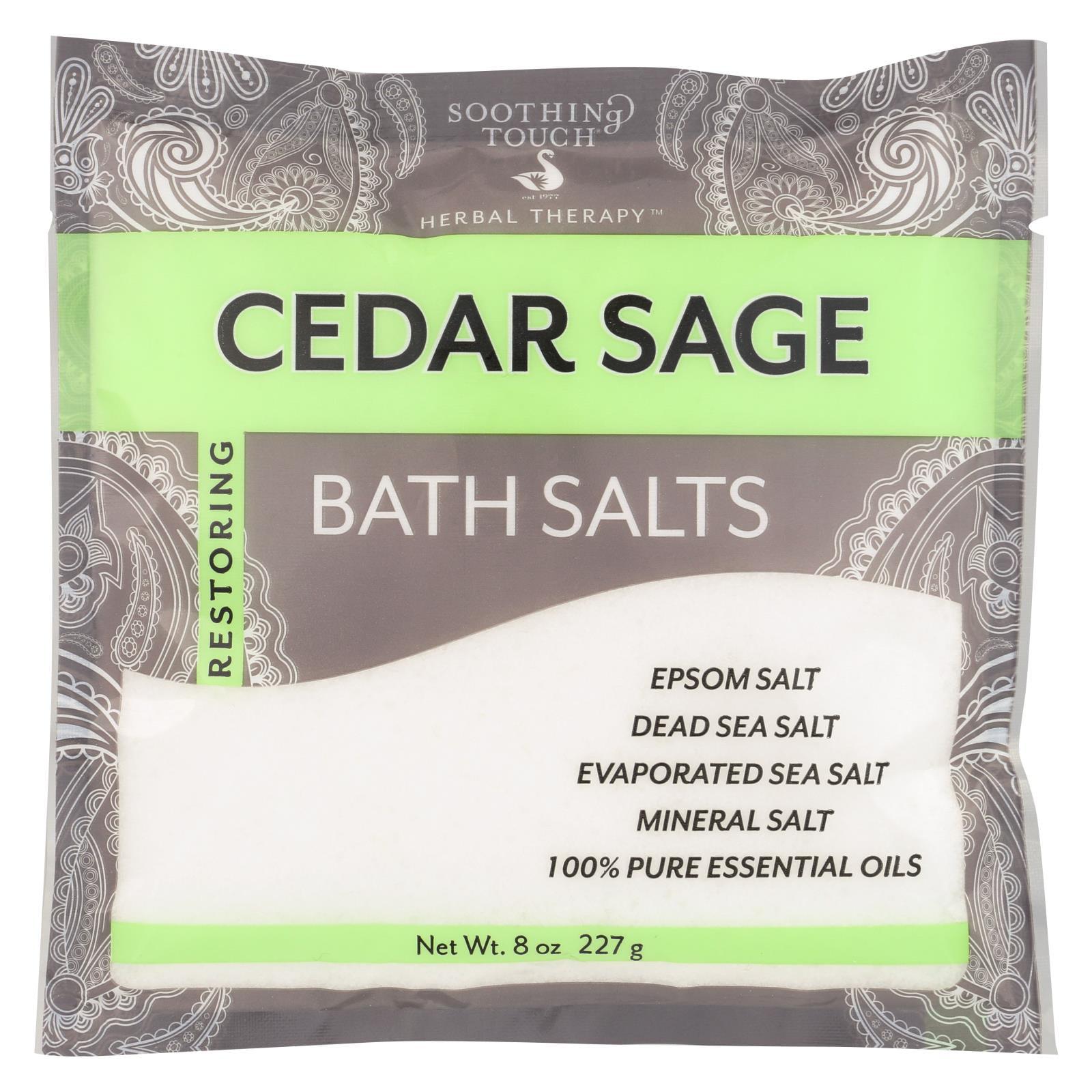 Soothing Touch Bath Salts - Cedar Sage - Case of 6 - 8 oz