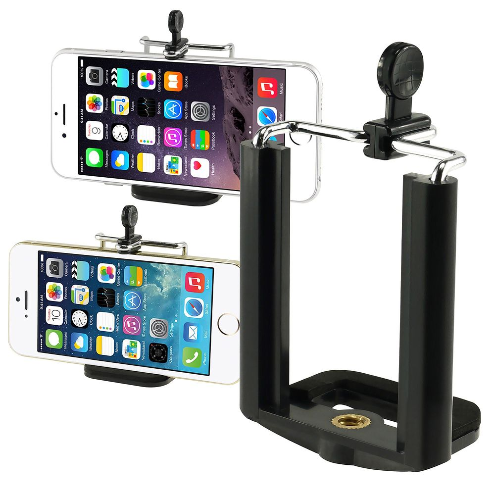 Insten Black Camera Phone Holder Tripod Adapter Monopod Mount Adapter Bracket