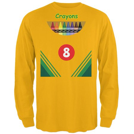 Halloween Crayon Box Costume Mens Long Sleeve T Shirt - Crayon T Shirt