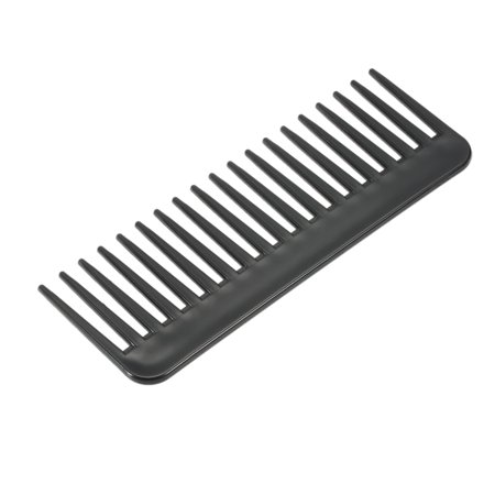 19 Teeth Large Wide Tooth Comb Detangling Hairbrush Heat-resistant Anti-static Scalp Massage ABS Hairdressing Comb Black