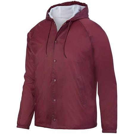 Augusta sportswear Men's Hooded Coach'S Jacket - 3102 (Columbia Sportswear Mens Coat)