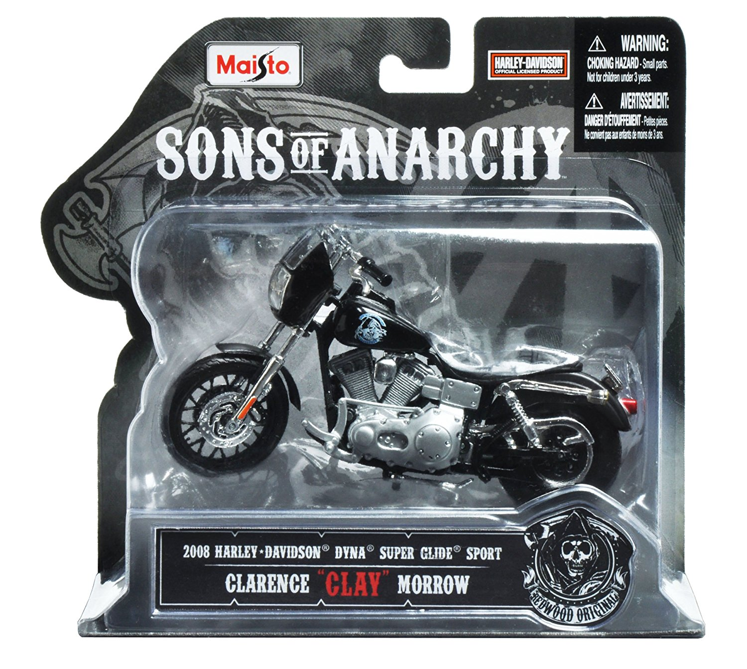 "1:18 Scale Sons of Anarchy 2008 HD Dyna Superglide Sport Clarence ""Clay"" Morrow... by"