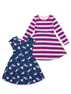 p.s.09 from aeropostale Short And Long Sleeve Skater Dress, 2-Pack (Little Girls & Big Girls)
