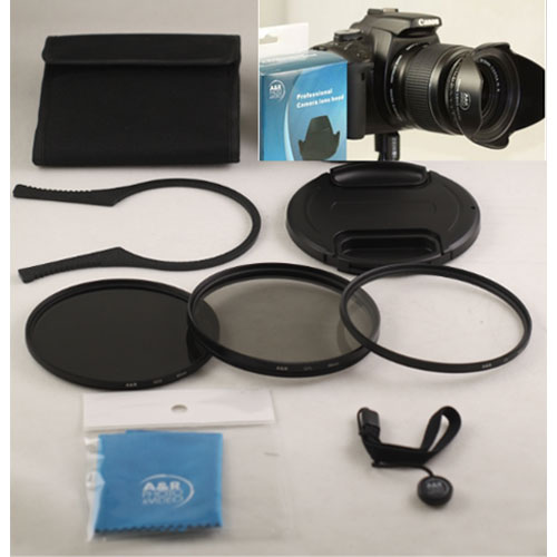55mm Filter Set UV CPL /& FLD for Nikon 18-55mm AF-P Lens D3400 D5600 D3500