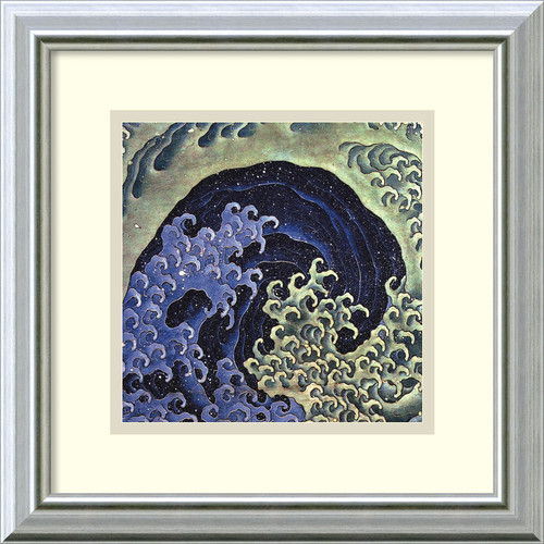 Amanti Art 'Feminine Wave' by Katsushika Hokusai Framed Painting Print by Amanti Art