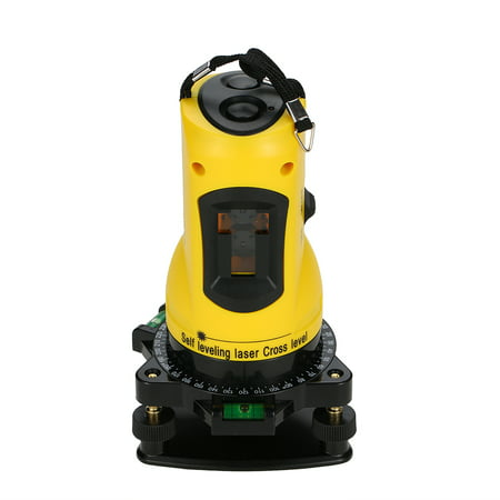 Household 2 Lines Cross Laser Level 360 Rotary Cross Line Leveling Can Be Used with Outdoor Receiver Vertical &