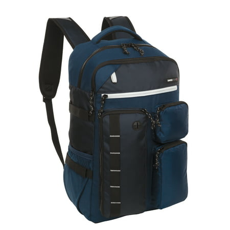 SwissTech Lucerne School Backpack with Laptop and Tablet Sleeve, Blue