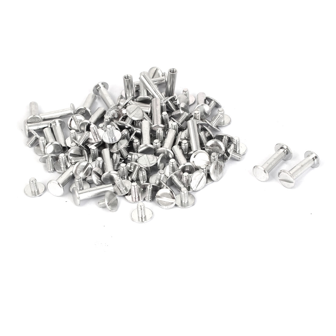 Uxcell M5x18mm Aluminum Chicago Screws Binding Posts Silver Tone (50-pack)