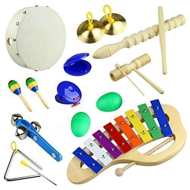 Tera 10Pcs Rhythm Percussion Music Instrument Drum Bells ...