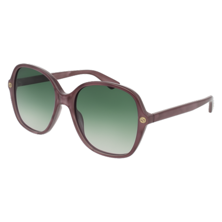 GG0092S-004 Pink 55mm Gucci GG0092S Sensual Romantic Butterfly Woman (Gucci Women's Sunglasses)