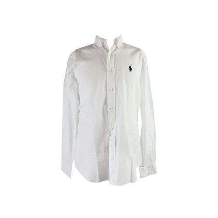 Polo Ralph Lauren White Long-Sleeve Poplin Sport Shirt L