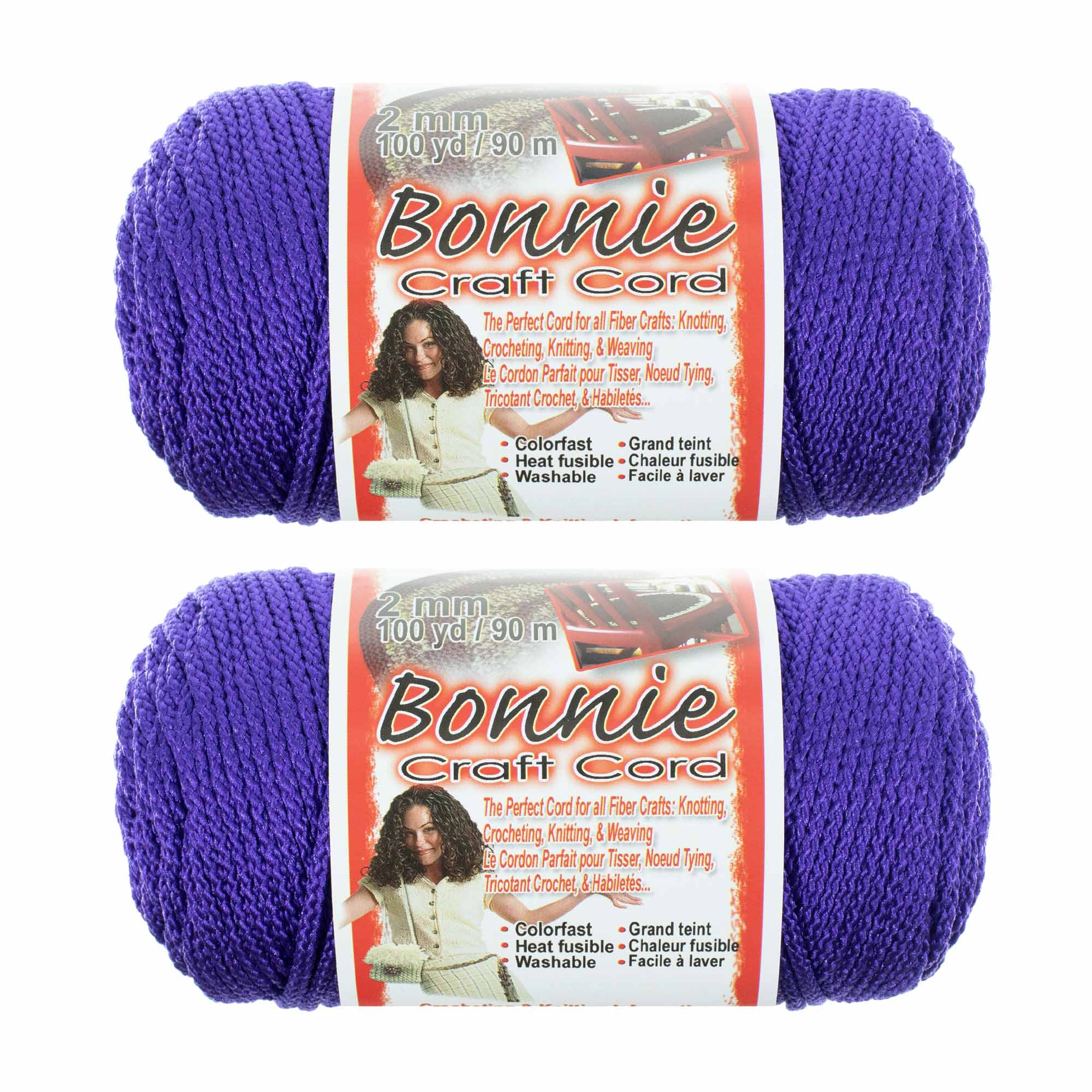 Craft County Bonnie Cord - 2MM - 2 Pack - Available in a Variety of Colors