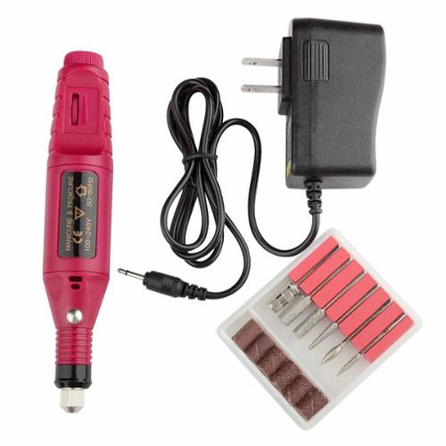 Zodaca Pen Shape Electric Nail Drill Art Salon Manicure File Pedicure Tool Polish Buffing - Portable