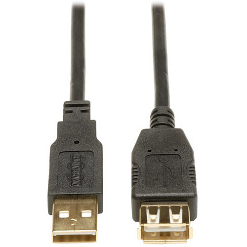 Tripp Lite USB 2.0 Gold Extension Cable, 16'