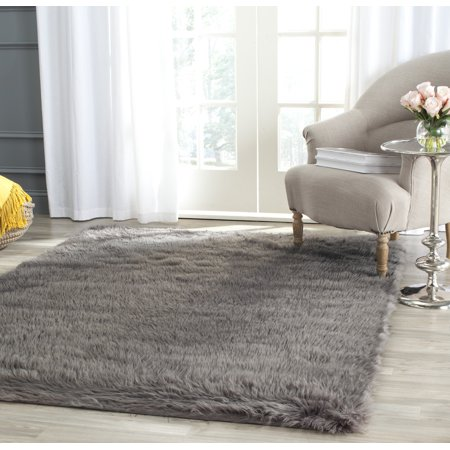 Safavieh Faux Sheep Skin Vesna Solid Plush Area Rug ()
