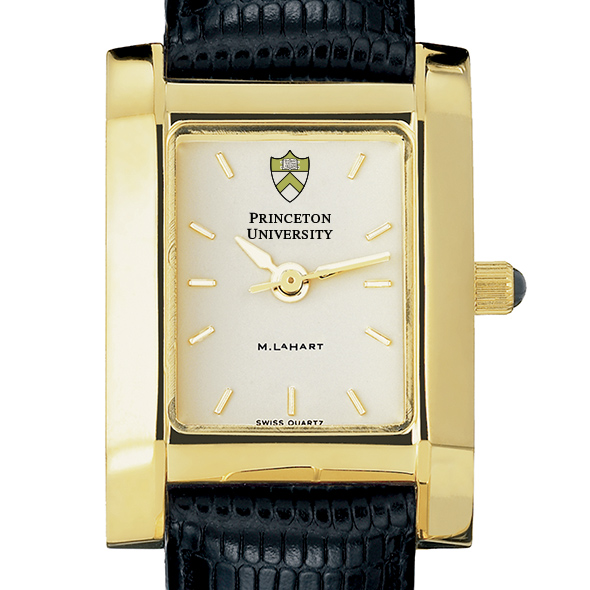 Princeton Women's Gold Quad Watch with Leather Strap