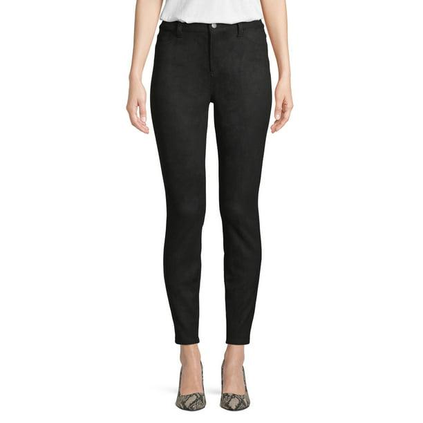 Black Pants : Time and Tru Women's Suede Fashion Pants