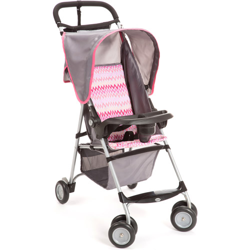 Cosco Umbria Stroller - Pink Zigzag Multi-Colored