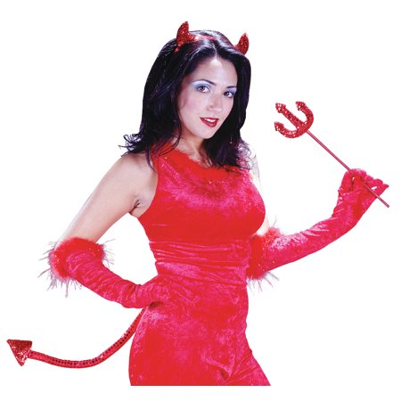 Instant Devil Kit Adult Halloween Accessory - Red Riding Hood Halloween Hair And Makeup