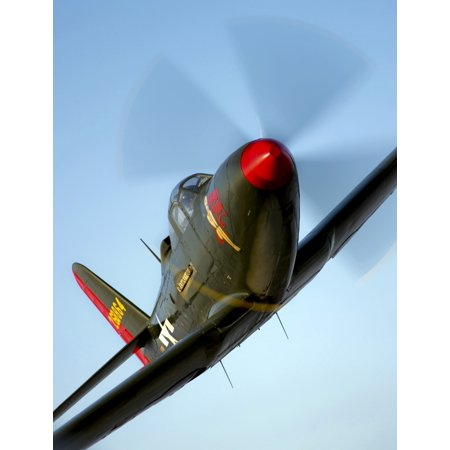 A Bell P-63 Kingcobra in flight Canvas Art - Scott GermainStocktrek Images (13 x 16) (Robert Scott Bell)