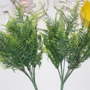 Jeobest Artificial Plastic Plants - 2PCS Plastic Green 7 Stems Artificial Plants Asparagus Fern Grass Bushes Flower Home Garden Decoration Floral Accessories MZ