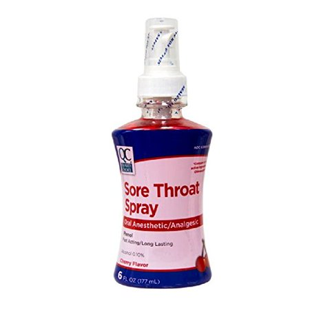 Quality Choice Sore Throat Spray Flavor Cherry 6oz Each Sore Throat Spray