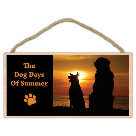Decorative Wooden Sign (Wooden Decorative Pet Sign: The Dog Days of Summer | Dogs, Gifts, Decorations )