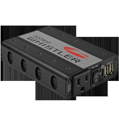 The Whistler Group XP200i Inverter, 200W, 12V, Plug or Clamps