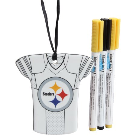 Pittsburgh Steelers Just Add Color Jersey Ornament - No - Steeler Ornaments