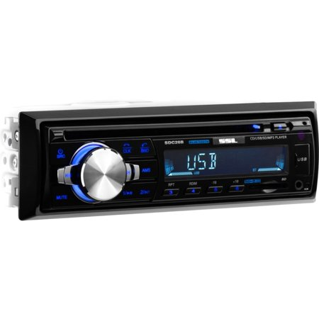 Best SSL SDC26D Single-DIN In-Dash CD Receiver with Bluetooth deal